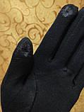 Бархатные+трикотаж Сенсорны женские перчатки ля работы на телефоне плоншете Anna-мода только оптом, фото 4