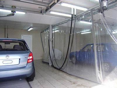 Шторы ПВХ завесы для автомойки, склада, цеха, СТО, покрасочных, гаража