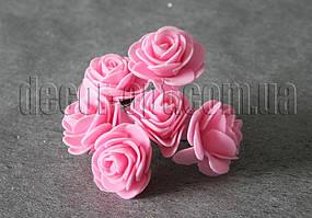 Букет розовых розочек из латекса 4 см