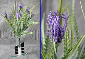 Ветка декоративная с фиолетовыми цветами 50 см