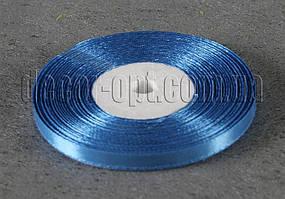 Лента атласная синяя 0,6 см 36ярд 36