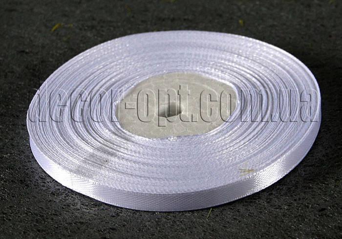 Лента атласная белая 0,6 см 36ярд 01