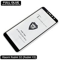Защитное стекло Full Glue Xiaomi Redmi S2 (Redmi Y2) (Black) - 2.5D Полная поклейка, фото 1
