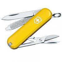 Нож Складной Мультитул Викторинокс Victorinox Classic SD (58мм, 7 функций), желтый 0.6223.8