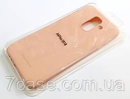 Чехол для Samsung Galaxy A6+ A605 2018 силиконовый Molan Cano Jelly Case матовый розовый