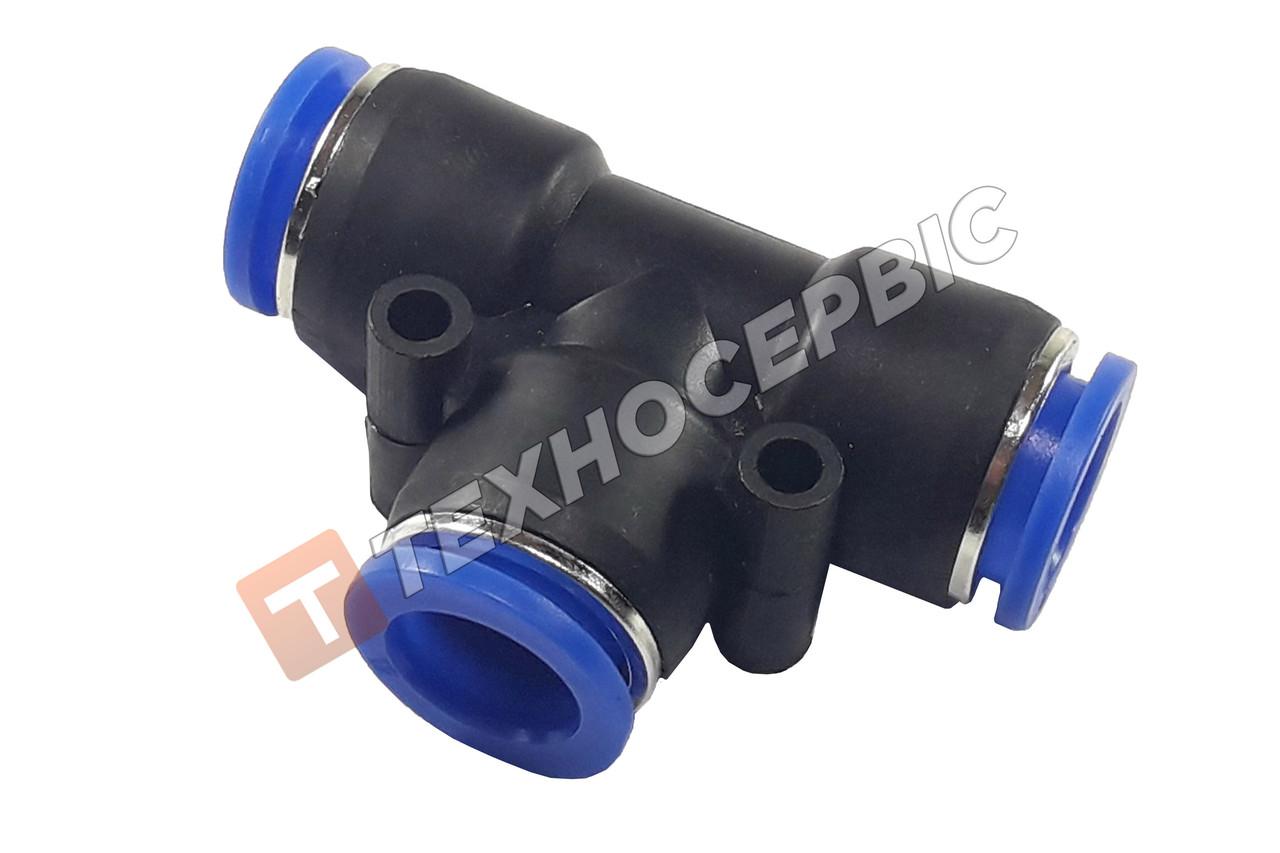 Соединитель тормозной трубки Т-образный пластиковый (аварийный фитинг, спасатель,SPE5) Ø5мм-Ø5мм-Ø5мм