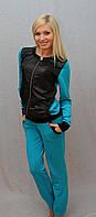 Женский костюм с плащевки синий, фото 1