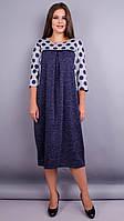 Роксолана. Оригинальное платье больших размеров. Горохи., фото 1