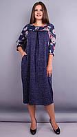 Роксолана. Оригинальное платье больших размеров 66,68. Цветы., фото 1