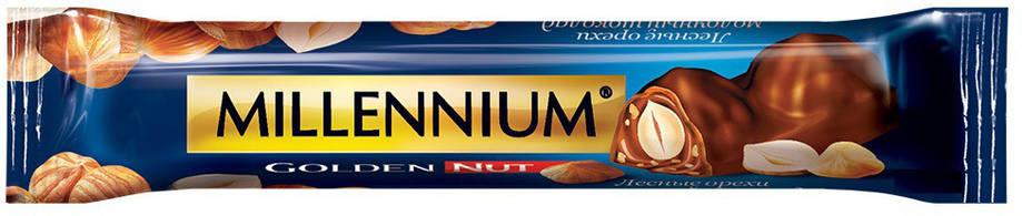 """Шоколад Молочный """"Millennium Golden Nut"""" цельный Орех 40г, фото 2"""