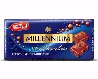 """Шоколад Пористый """"Millennium"""" Молочный 90г, фото 2"""