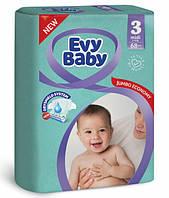 Підгузники дитячі Evy Baby Midi Jumbo 3 (5-9 кг), 68 шт, фото 1