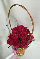 Букет из конфет Розы в корзине, фото 1
