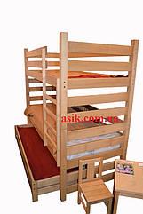 Кроватка Woodman двухьярусная,  цвет - натуральный.