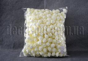 Головы кремовых роз d 2,5-3,5см из латекса уп/500шт