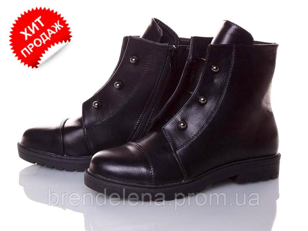 Модні суперові чорні черевики р(38.40)