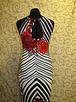 Летнее женское трикотажное платье с оригинальным принтом пр-во Ачоса (Беларусь), 46р., фото 1