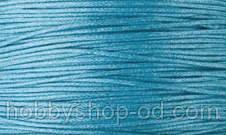 Вощенный шнур светло-бирюзовый  (примерно 400 м)