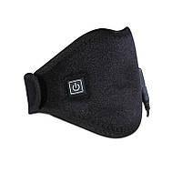 USB Ошейник с подогревом Eco-obogrev, встроенный USB-термостат 40-55С, электрогрелка для шеи, рук, плеча колен