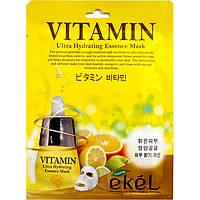 Тканевая маска Ekel восстанавливающая для чувствительной кожи с витамином С 25 мл