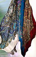 Платок женский Хохлома с бахрамой