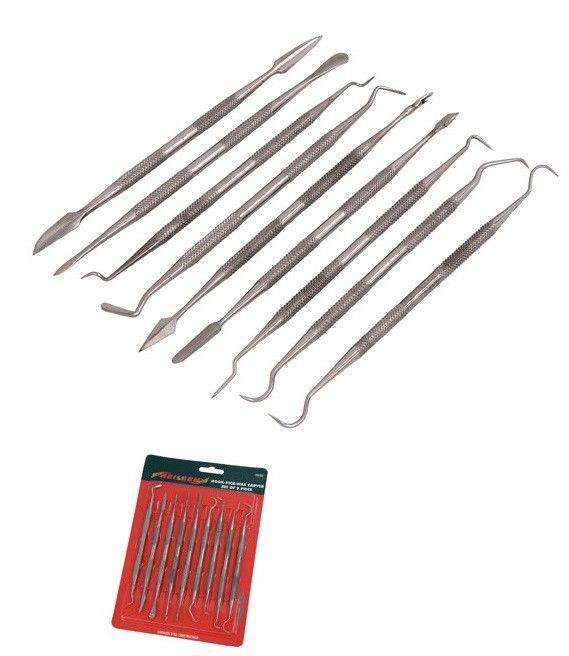 Инструмент для тонкой лепки металл, набор 9 шт