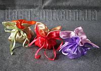 Атласная бонбоньерка-тюльпан для подарков 12х14 см