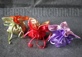 Атласная бонбоньерка-тюльпан МИКС для подарков 12х14 см