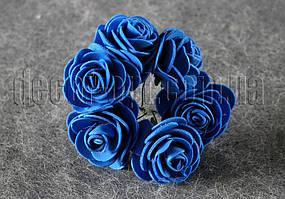 Букет синих розочек из латекса 4 см