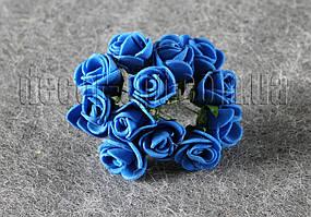 Букет синих розочек из латекса 1,5-2 см