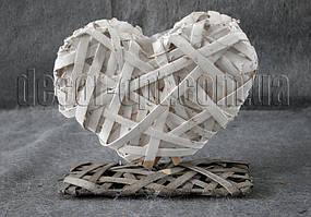 Кашпо-сердце натур.