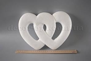 Серця подвійні пінопластові 28х20 см