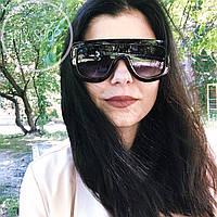 Женские солнцезащитные очки модные стильные широкие