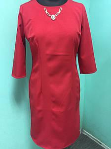 Платье женские полубатал красное
