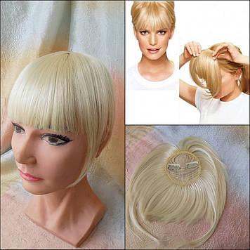Челка накладная на клипсах(клипсах) блонд 10-028-613