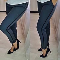 Женские брюки с лампасами / костюмная ткань / Украина 26-055, фото 1