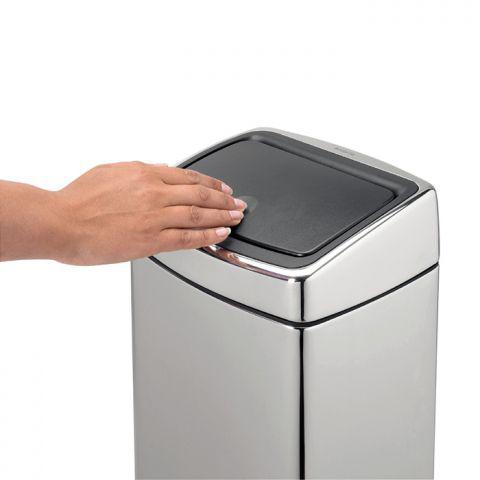 Ведро для мусора Brabantia  Touch Bin 10 л Brilliant Steel (477201)