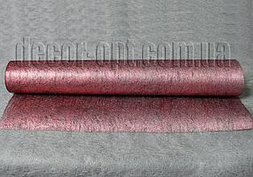 Флизелин металлизированный коралловый 50см/10м