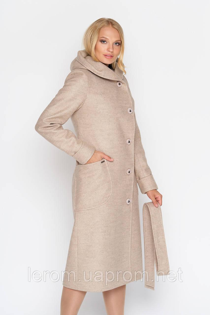 """Длинное женское пальто с капюшоном """"Фортуна"""", разные цвета"""