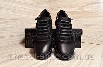 Мокасины мужские  DETTA UOMO кожаные черные