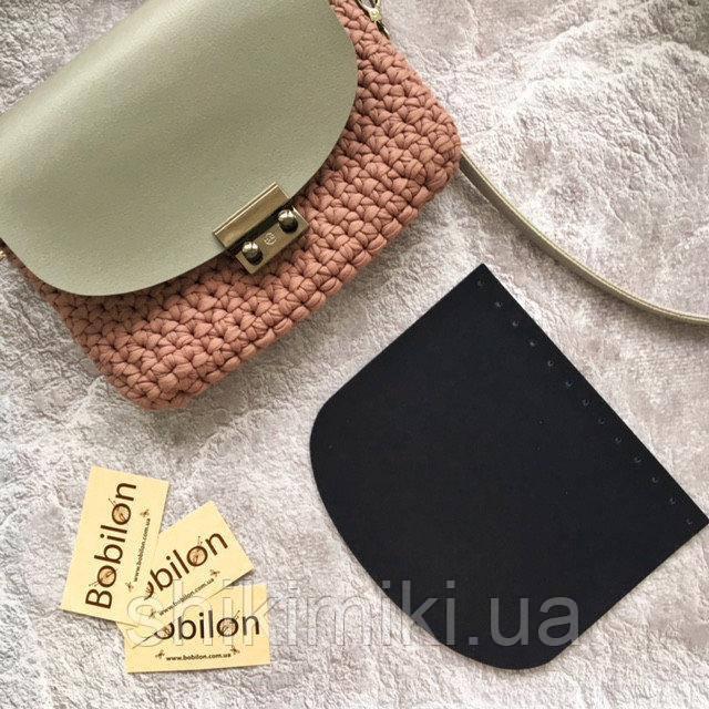 Крышка для сумки из эко-кожи (21*18), цвет темно синий