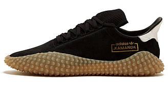 Мужские кроссовки Adidas Kamanda Black Gum (адидас каманда, черные)