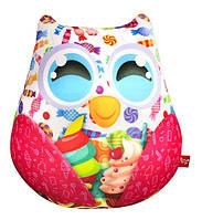 Игрушка мягкая Совушка с конфетками, подушка-игрушка для малышей
