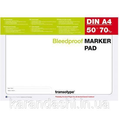 Блок бумаги для маркеров Transotype А4, 50 листов, 70 г/м2 25001