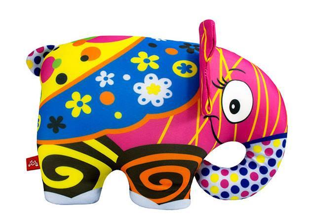 Игрушка мягкая Слоник цветной, подушка-игрушка для малышей