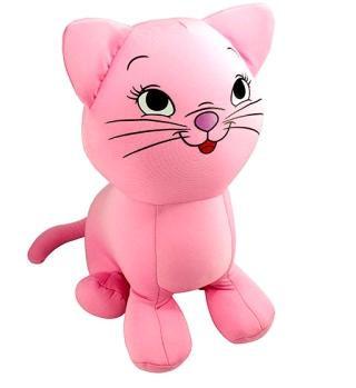 Игрушка мягкая Котенок розовый, подушка-игрушка для малышей