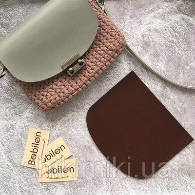 Крышка для сумки из эко-кожи (21*18), цвет бордо