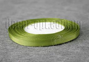 Лента репсовая оливка 0,6 см 25 ярд арт.76