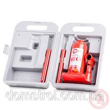 """Домкрат """"столбик"""" одноштоковый 3т, в чемодане INTERTOOL GT0052, фото 3"""