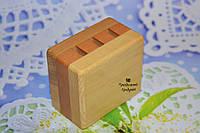 Деревянная прямоугольная подставка для ножниц (3 отверстия), фото 1